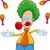 clown juggler cartoon stock photo © izakowski