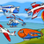grappig · cartoon · vliegtuigen · voertuigen · ingesteld · illustratie - stockfoto © izakowski