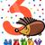 third birthday cartoon design stock photo © izakowski