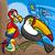 cute birds group cartoon illustration stock photo © izakowski