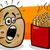desenho · animado · batatas · fritas · falante · retro · gordura · desenho - foto stock © izakowski