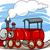 Cartoon · локомотив · поезд · характер · иллюстрация · Cute - Сток-фото © izakowski