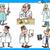医師 · シリンジ · 漫画 · 実例 · 男性 · 医療 - ストックフォト © izakowski