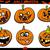 halloween pumpkins cartoon set stock photo © izakowski