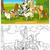 purebred dogs cartoon for coloring book stock photo © izakowski