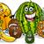 tropical fruits group cartoon illustration stock photo © izakowski