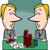 biznesmenów · cartoon · ilustracja · uśmiech · człowiek · biznesmen - zdjęcia stock © izakowski