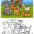 dogs group cartoon coloring book stock photo © izakowski