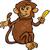 monkey with banana cartoon illustration stock photo © izakowski