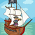 pirate on ship cartoon illustration stock photo © izakowski