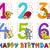 birthday greeting cards collection stock photo © izakowski