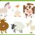 家畜 · 漫画 · ユーモア · セット · 実例 · 面白い - ストックフォト © izakowski