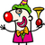 grappig · clown · ballonnen · partij · leuk - stockfoto © izakowski