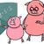 piglet at match cartoon illustration stock photo © izakowski