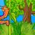 engraçado · lagarta · ilustração · desenho · animado · verde - foto stock © izakowski