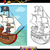 pirate on ship cartoon coloring book stock photo © izakowski