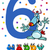 sixth birthday cartoon card design stock photo © izakowski