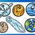 cartoon · planeten · ingesteld · illustratie · aarde - stockfoto © izakowski