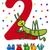 ikinci · yıldönümü · kart · doğum · günü · web · mektup - stok fotoğraf © izakowski
