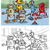 robots · cartoon · illustratie · ingesteld · grappig · fantasie - stockfoto © izakowski