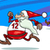 running santa greeting card cartoon stock photo © izakowski