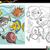 fish characters coloring page stock photo © izakowski
