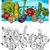 comic vegetables cartoon for coloring book stock photo © izakowski