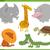safari animal characters set stock photo © izakowski