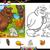 gelukkig · wilde · dieren · bos · illustratie · natuur · ontwerp - stockfoto © izakowski