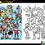 robot · grup · boyama · kitabı · karikatür · örnek - stok fotoğraf © izakowski