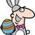 man in easter bunny costume cartoon stock photo © izakowski
