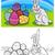 easter bunny cartoon for coloring stock photo © izakowski