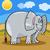 african elephant cartoon illustration stock photo © izakowski