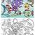 vicces · tengeri · állatok · feketefehér · vektor · rajz · izolált - stock fotó © izakowski