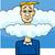 rajz · vicces · felhők · fény · felirat · kék - stock fotó © izakowski