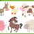 家畜 · コレクション · 漫画 · 実例 · かわいい · 家畜 - ストックフォト © izakowski