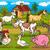 farm animals rural scene cartoon illustration stock photo © izakowski