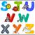 educação · desenho · animado · alfabeto · cartas · crianças · ilustração - foto stock © izakowski