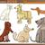 собаки · Cartoon · набор · комического · иллюстрация - Сток-фото © izakowski