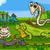 engraçado · desenho · animado · camaleão · verde · desenho · gráfico - foto stock © izakowski
