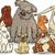 cães · grupo · desenho · animado · ilustração - foto stock © izakowski