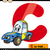 letter c with car cartoon illustration stock photo © izakowski