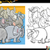 cartoon elephants coloring page stock photo © izakowski