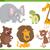 cute animals cartoon set illustration stock photo © izakowski