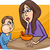 poor eater boy with mum cartoon stock photo © izakowski