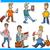 men characters set cartoon illustration stock photo © izakowski