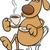 csésze · kávé · rajzfilmfigura · ül · fut · csészealj - stock fotó © izakowski