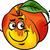 pêssego · mascote · ilustração · feliz · indicação · comida - foto stock © izakowski