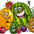 フルーツ · グループ · 漫画 · 実例 · 果物 - ストックフォト © izakowski