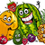 funny fruits group cartoon illustration stock photo © izakowski